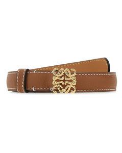 Brown leather Anagram belt
