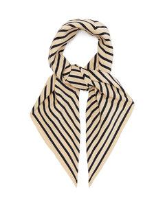 Monogram-print silk scarf