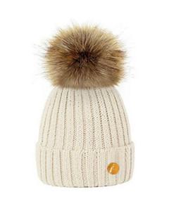 毛球帽 奶油色/淡黄色Hortons England Meribel PomPom Hat - Cream