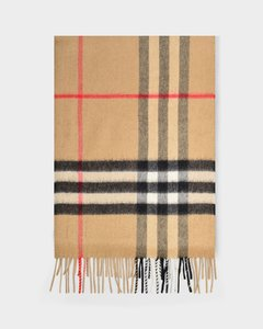 Giant Check Cs Scarf in Archive Beige Cashmere