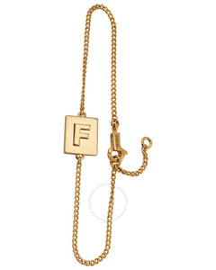 Gold Alphabet F Bracelet