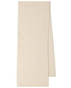 绞花针织羊绒围巾