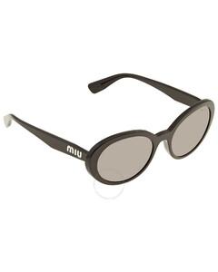 Grey Gadient Oval Ladies Sunglasses 0MU 01USA1AB3M153
