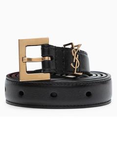 Monogram black belt 2 cm