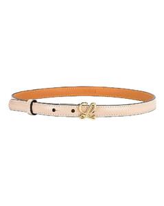 L Buckle Belt in Ivory