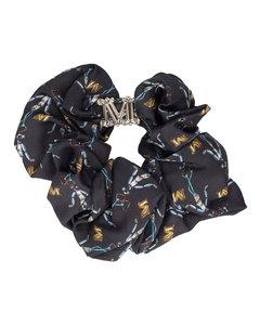 Heart Leopard-Print Scarf