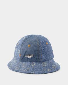Bamboo round-frame sunglasses