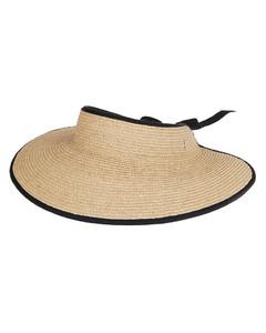 Natural Raffia Mita Visor Hat