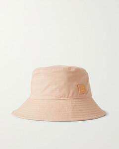Appliquéd Cotton-twill Bucket Hat