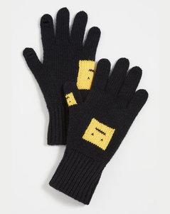 黑色和黄色手套