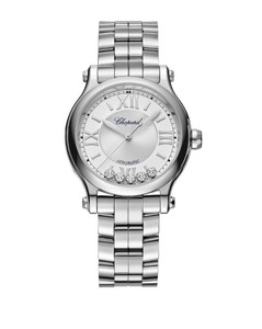 Stainless Steel and Diamond Happy Sport Automatic Watch 33mm