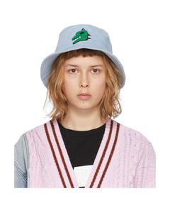 SSENSE发售蓝色Dino丹宁渔夫帽