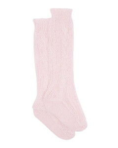 Gwendolyn cable-knit mohair-blend socks