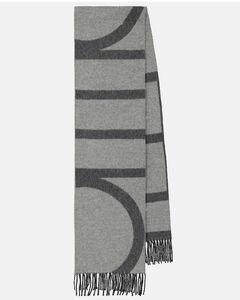 条纹羊毛围巾