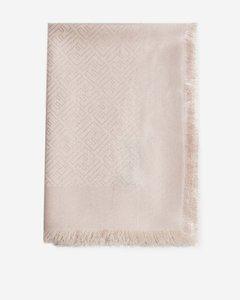 FF logo silk and wool foulard