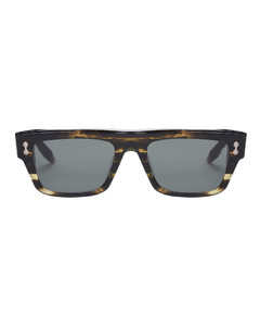 Women's Donna Bas Relief Earrings - Gold White CZ