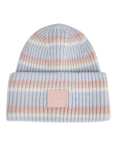 Pansy striped wool beanie