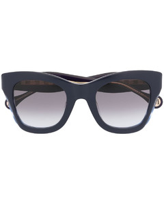Gold-tone aviator-style sunglasses