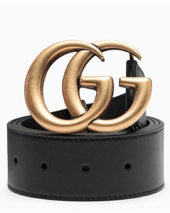 Women's belt with Double G buckle