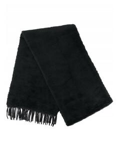 Reversible fringed scarf