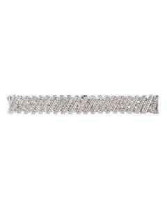 Grid Silk Scarf - Brown