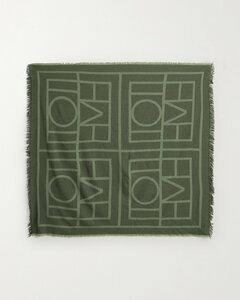 Fringed Wool And Cashmere-blend Jacquard Scarf