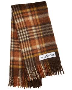 Vally tartan alpaca-blend blanket scarf