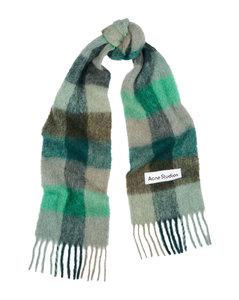 Vally checked alpaca-blend scarf