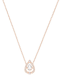 施华洛世奇Sparkling Dance Pear项链-白色/镀玫瑰金色
