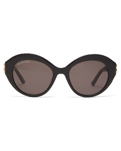 Dynasty oval acetate sunglasses