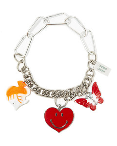 Vintage heart-charm chain necklace