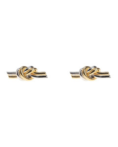 Gold And Rhodium Knot Earrings
