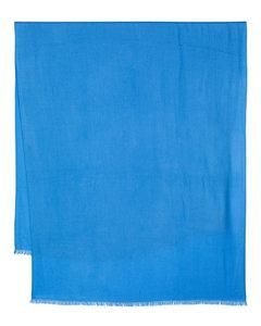 Fringed wool-blend scarf