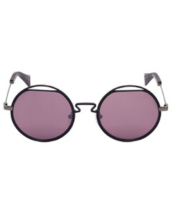 Round Metal Cutout Sunglasses