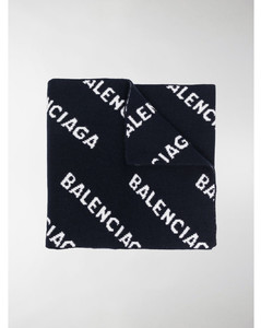all-over logo scarf