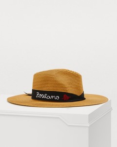 Embroidered Panama hat
