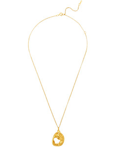 The Aperture of Twilight 24kt gold-plated necklace