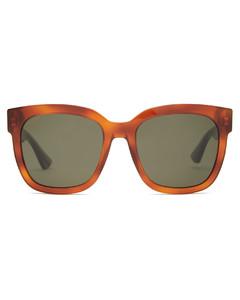 Web-stripe square acetate sunglasses