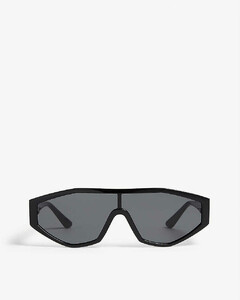 Leather-trim houndstooth cotton-blend snood