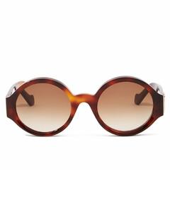 Story round tortoiseshell-acetate sunglasses