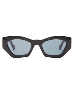 Geometric cat-eye acetate sunglasses