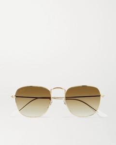 Frank金色金属方框太阳镜
