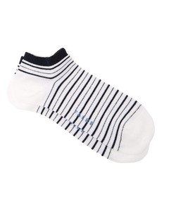 Metallic striped cotton-blend trainer socks