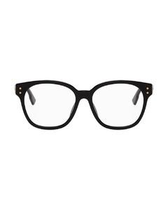 黑色DiorCD1F眼鏡