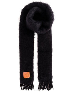 Mohair Scarf in Black
