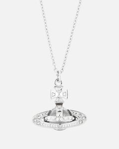 Women's Pina Small Bas Relief Pendant - Rhodium Crystal