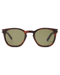 Tortoiseshell acetate round-frame sunglasses