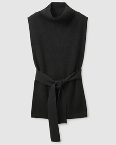 WOOL MIX TABARD KNITTED VEST