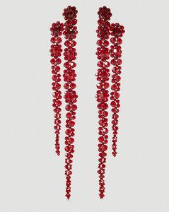 Double Drop Earrings in Red