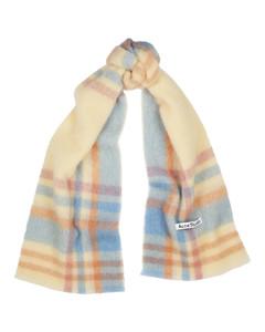 Vana tartan alpaca-blend scarf